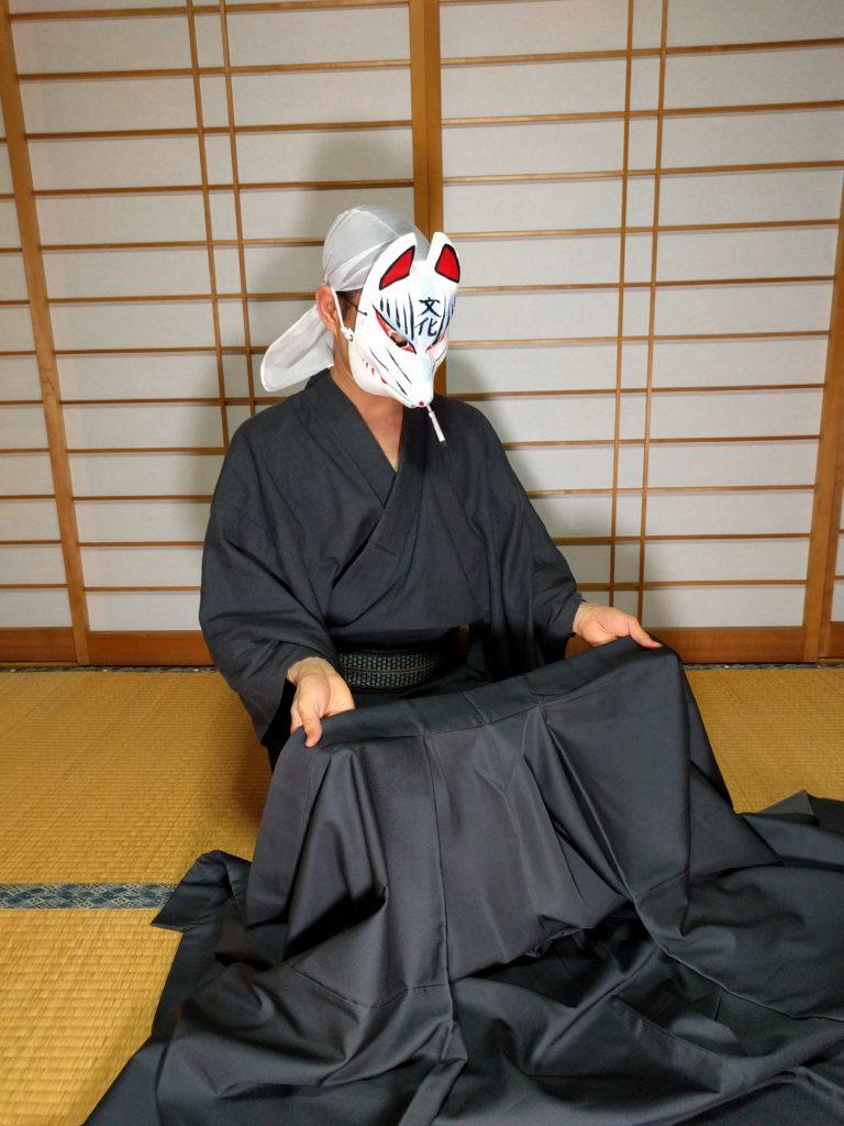 男の和服着物、畳み方、袖畳み、本畳み