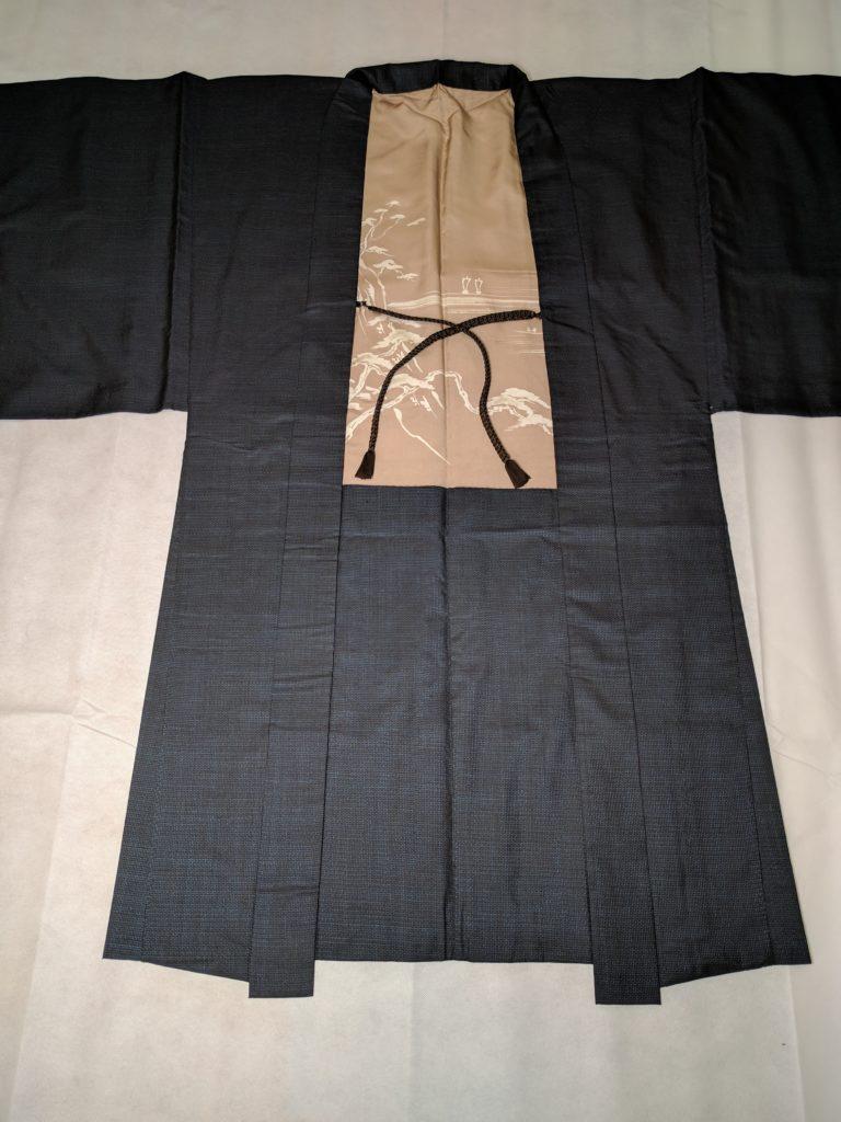 男の和服着物 大島 羽織 袷