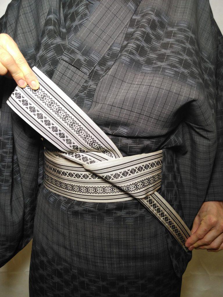 男の帯結び 和服着物