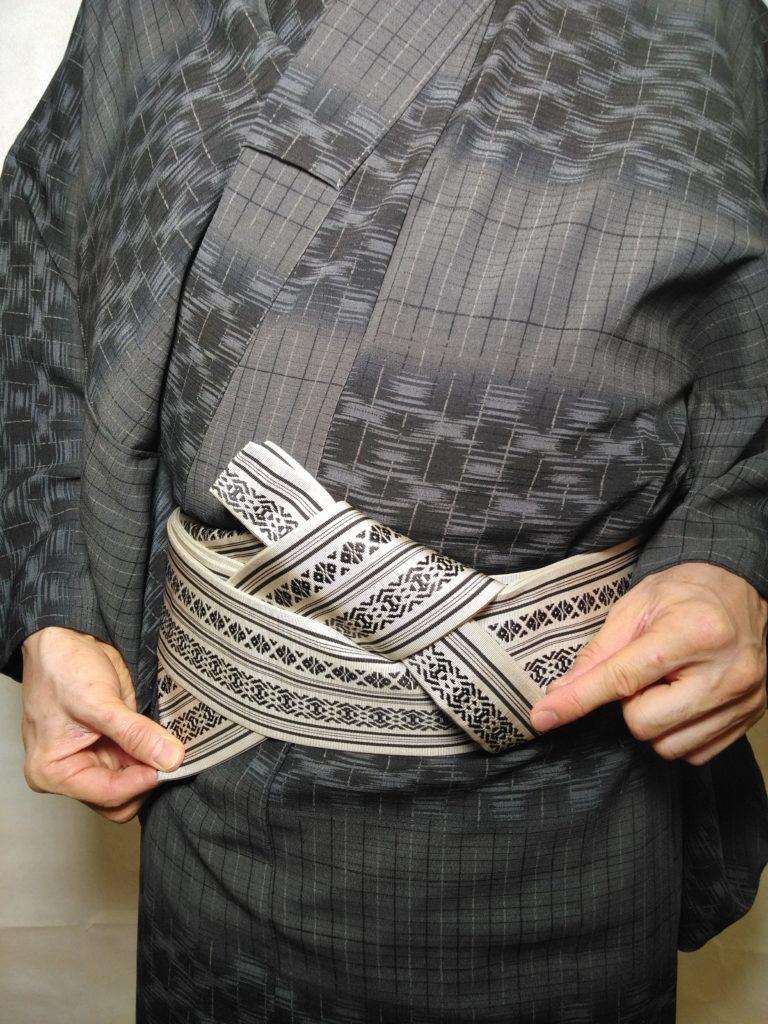 男の帯結び 浪人 和服着物