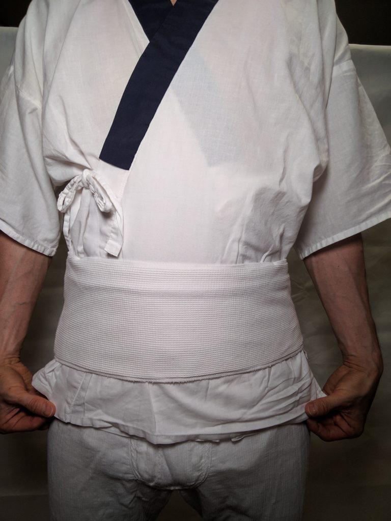 男の和服着物 腰パッド 、補正、 着付け