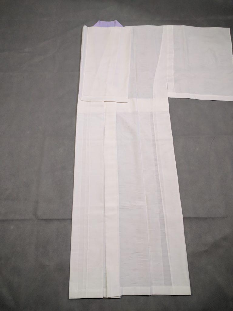 男の和服着物 長襦袢 本畳み