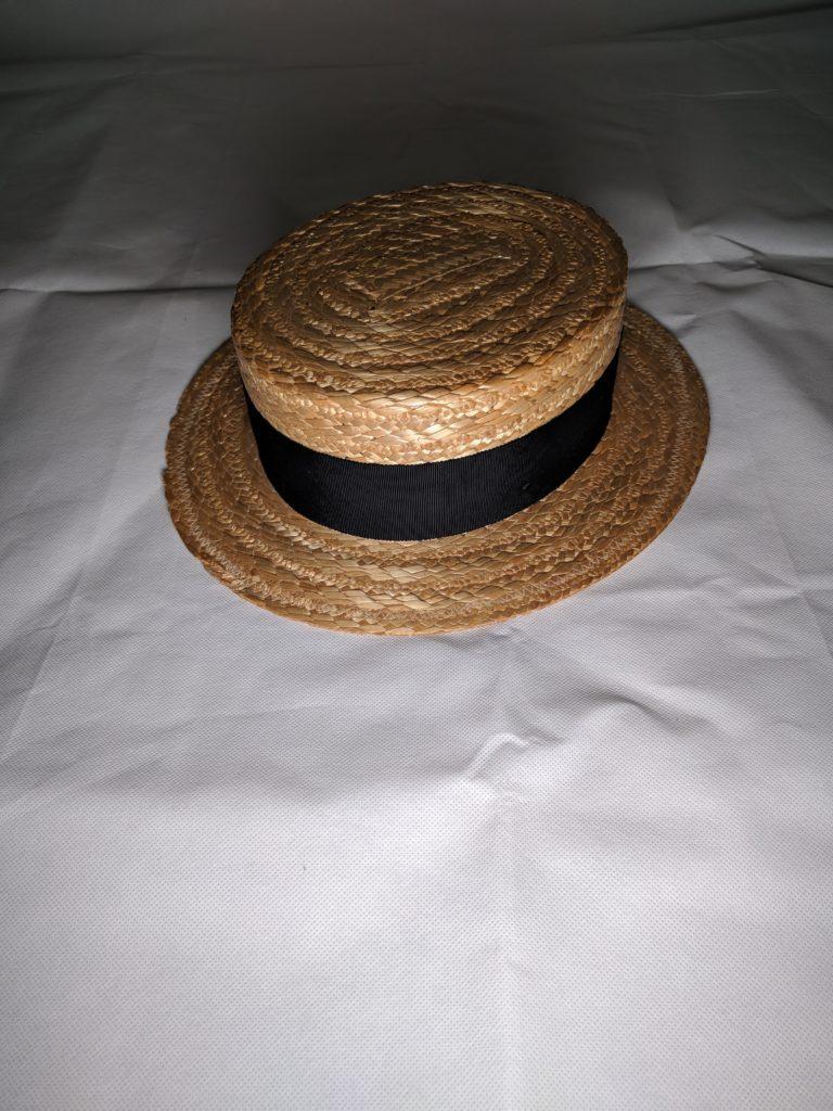 男の和服着物、モッズ、小物、カンカン帽、組み合わせ