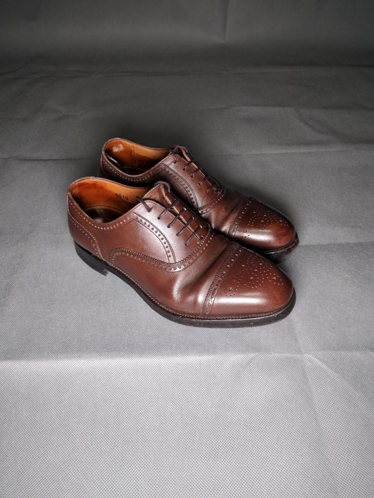 男の和服着物、モッズ、紳士靴、ウイングチップ、小物、組み合わせ、