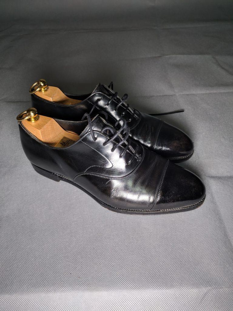 男の和服着物、モッズ、紳士靴、ストレートチップ、組み合わせ、小物