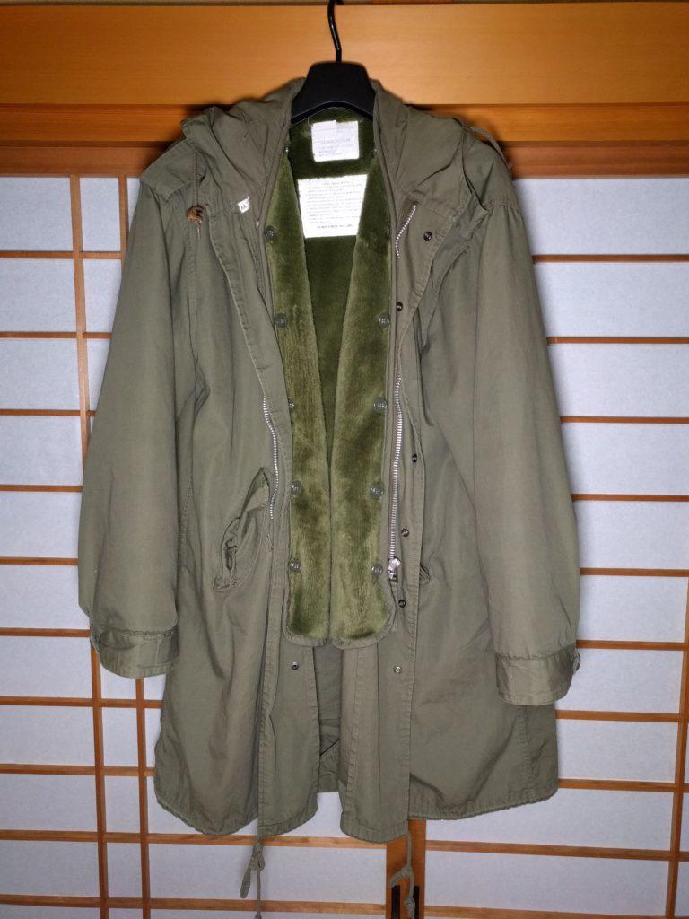男の和服着物、モッズ、パーカー、コート、M-51