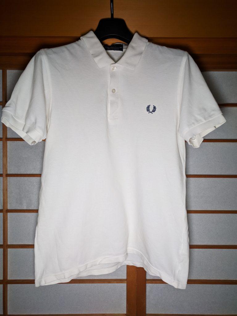 男の和服着物、モッズ、ポロシャツ、フレッドペリー、白、アイテム