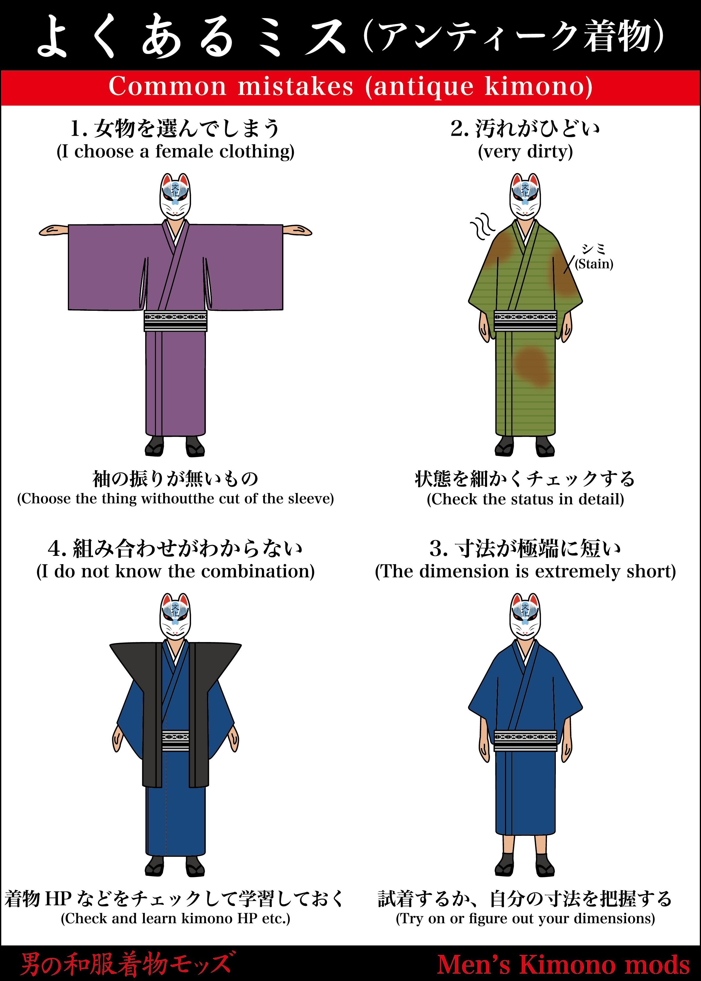 男の和服着物,メンズ着物,アンティーク,ミス,和装,種類,狐面,日本,裏着物