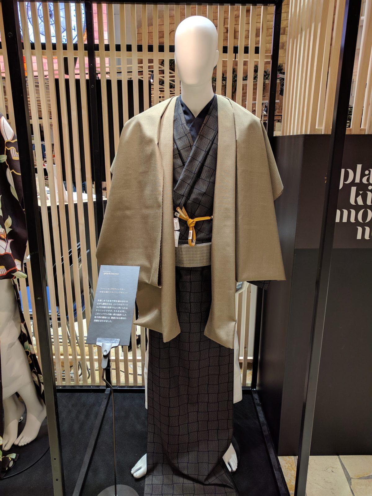 男の和服,メンズ着物,狐面,日本,裏着物,和,文化,プレイキモノ,