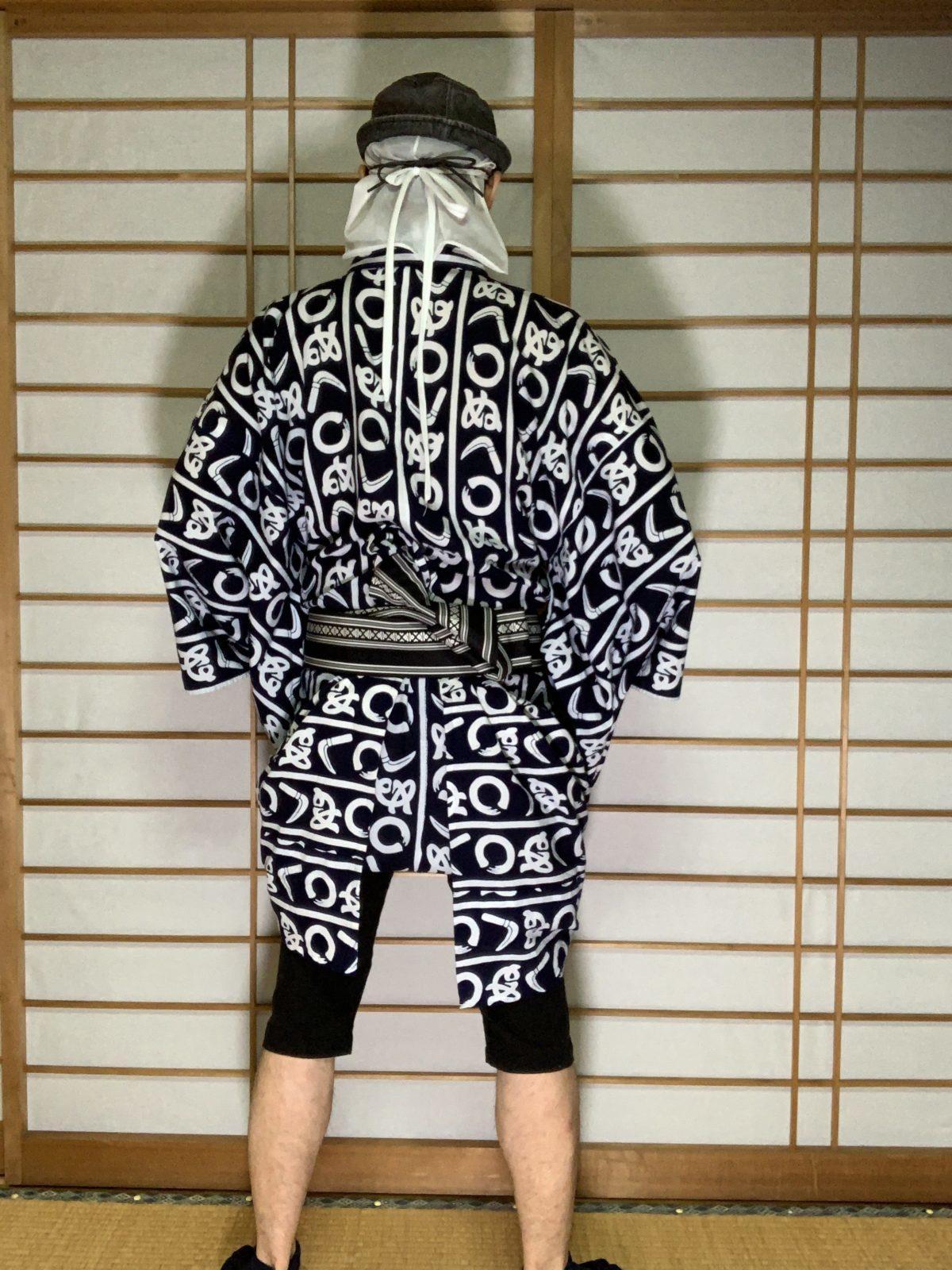 男の和服,メンズ着物,狐面,日本,裏着物,和,文化,裏着物,