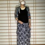 男の和服,メンズ着物,狐面,日本,裏着物,浴衣,和,文化,タンクトップ,