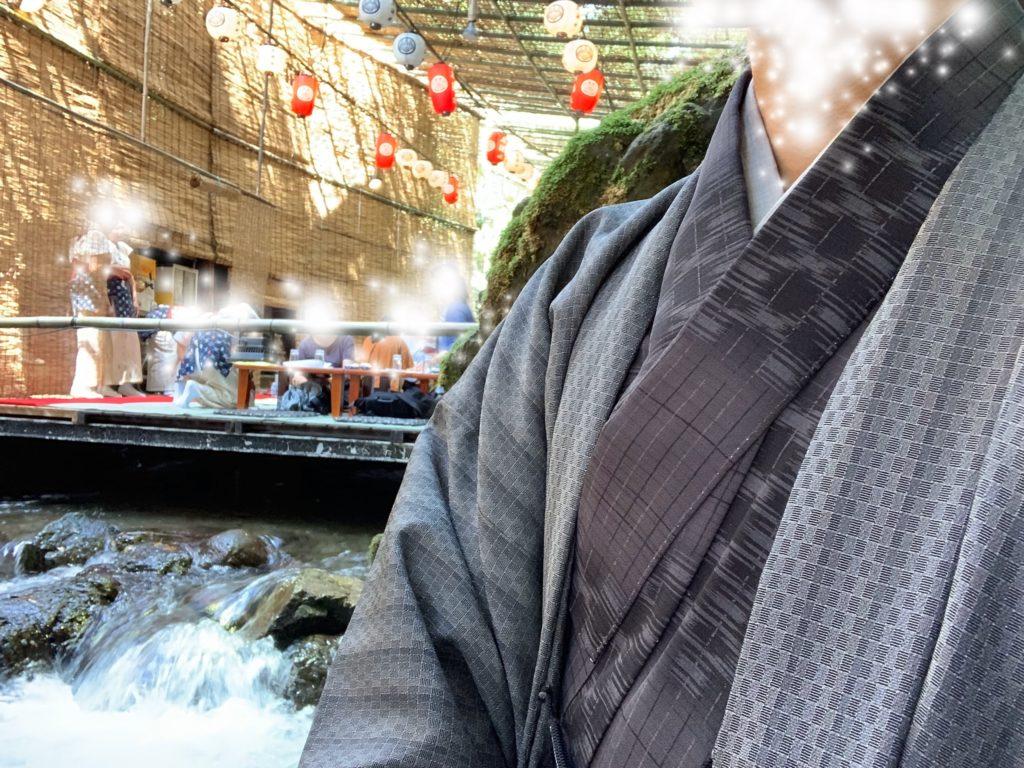 男の和服,モッズ,メンズ着物,和装,裏着物,和,文化,狐面,歴史,川床,日本,貴船