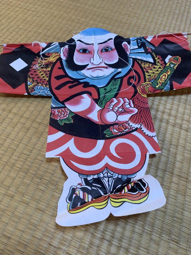 男の和服,メンズ着物,狐面,日本,裏着物,和文化,正月